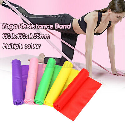 Elastic Stretch Resistance Bands 1.5m  Exercise Yoga Fitness Band Theraband