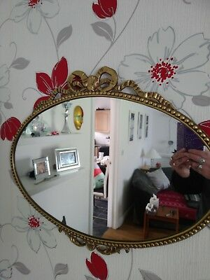 Reproduction Period Mirror Gilded Metal Cast
