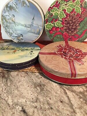 Lot Of 4 Christmas Tins