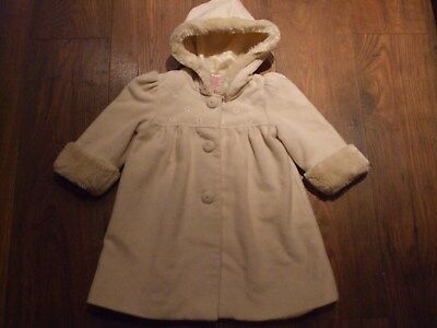 Z. Girls Age Size 2 - 3 Years Coat HOODED WINTER BUTTON UP POCKETS KIDS CASUAL