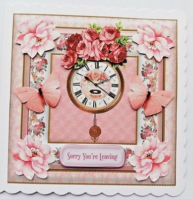 Handmade 3D Sorry You/'re Leaving Personalised BHE29