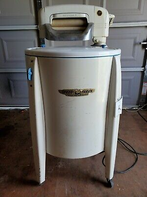 Vintage Heavy Duty Speed Queen Deluxe Wringer Washer Model 60 Serial # 2399240
