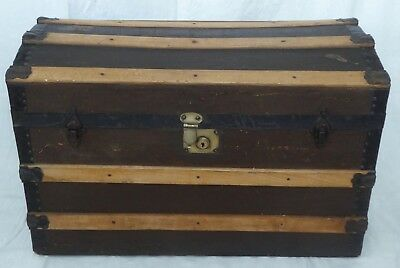 Antique Dome Top Steamer Trunk