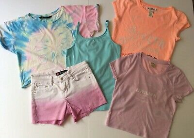 Girls Summer Bundle Shorts, T Shirts x3, Vest Top, Age 10-14 years