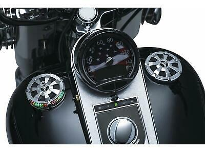 Kuryakyn 7381 Alley Cat LED Fuel and Battery Gauge - Chrome