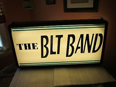 Vintage advertising SIGN THE BLT BAND  lighted LARGE (VERY COOL) RARE