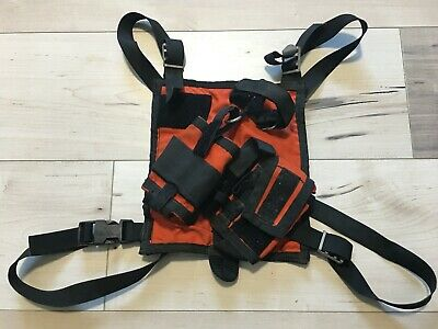 CMC Rescue Radio Chest Harness - Red - Search, First Responder!!!