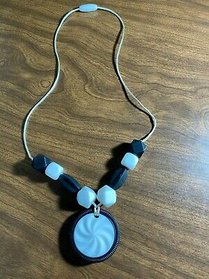New Handmade Bpa Free Silicone Baby Teething Beads Necklace Oreo Cookie