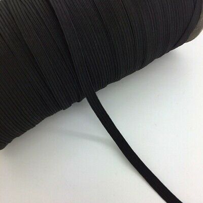 """5yds 1/4"""" ELASTIC BLACK FOR WAISTBANDS CUFF SEWING DRESSMAKING TAILORING UK TOP+"""