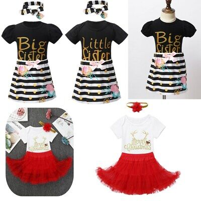 Infant Baby Short Sleeve Romper+Tutu Skirt+Headband Set Girls Summer Outfit