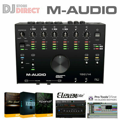 M-Audio AIR 192 | 14 MIDI USB Digital USB 24 BIT Audio Interface with Software