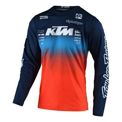 Troy Lee Designs Kids Jersey GP Stain'd Team - Navy/Orange
