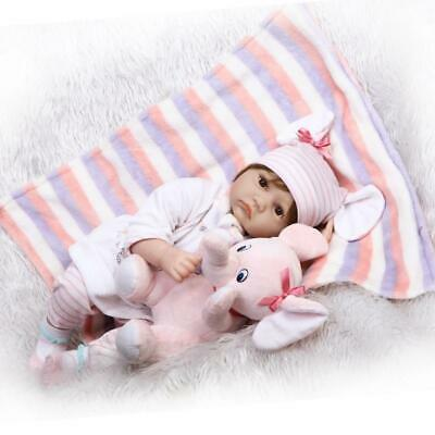"""Reborn Dolls Baby Girl 22"""" Real Life Toddler Babies Elephant Sets Weighted Body"""