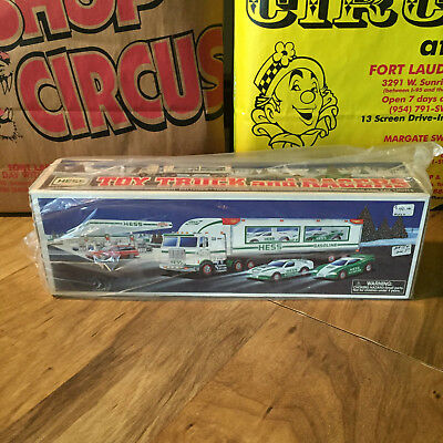 1997 Hess Toy Truck & Racers  - New Old Stock Vintage