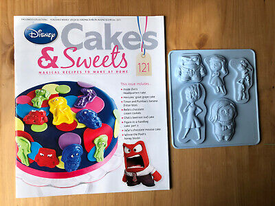 Disney Cake And Sweets Magazine Issue 121 With Inside Out Silicon Mould
