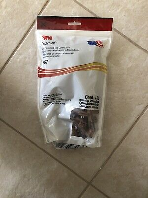 3M - 567-BOX Connector Tap and Run Brown, 18-14AWG(TAP); 12-10AWG(RUN) - Qty 100