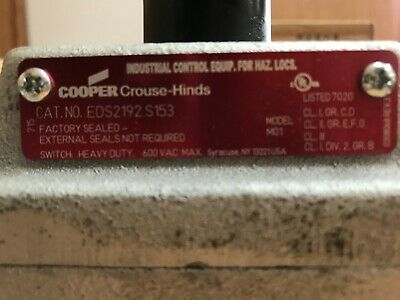 Crouse-Hinds Eds2192 S153 Switch Heavy Duty
