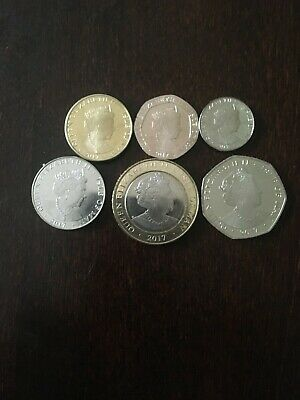 2017 Isle of Man 6 Coin Set Uncirculated