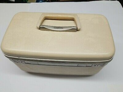 Vintage Samsonite Silhouette  Train Makeup Case Luggage Mirror & Tray No Key