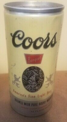 Vintage Coors Banquet Two Push Button Tab 12oz Empty Beer Can Adolph Coors Co.