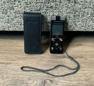 Olympus DM-670 Digital Voice Recorder- Tested & Working- With Case