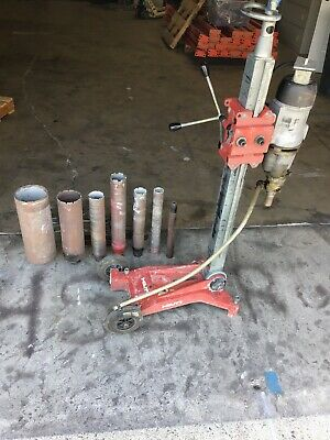 Black&Decker 2 Speed Core Drill With Hilti Dcm Ii Stand And 6 Bits Works Good