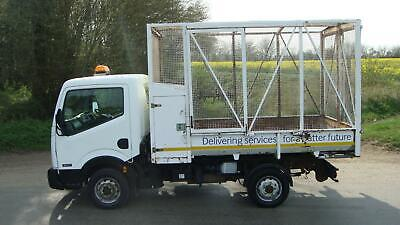 61 Reg Nissan Cabstar 34.11 Single Cab Refuse Waste Caged Tipper Truck