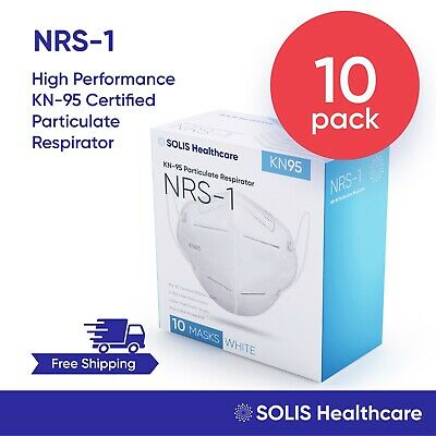 10 Pack KN95 Certified High-Performance 5-Layer Respirator Face Mask Disposable