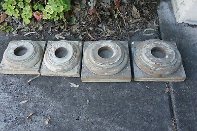 4 Antique column capitals. Heavy old timber. At least 100 years old.
