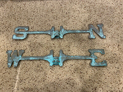 early antique copper brass Weathervane Directionals arms north south west east