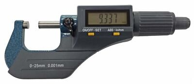 Toolzone 0-25mm External Digital Outside Micrometer - Accurate Measuring Tool -