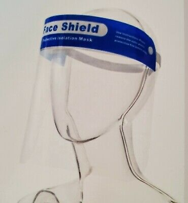 2/6/10/20 Pack Safety Face Shield Clear Full Cover Tool Mask Anti-fog Eye