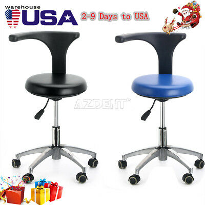 PU Leather Medical Stool Doctor Assistant Stool Mobile Chair Adjustable USA SALE