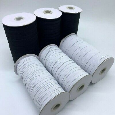 25mm Flat Elastic Cord Good Quality For Sewing Dressmaking Cuffs Tailoring