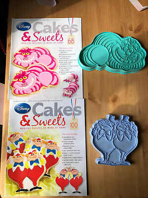 Disney Cake And Sweets Magazine Issues 68 & 100 With Alice In Wonderland Cutters