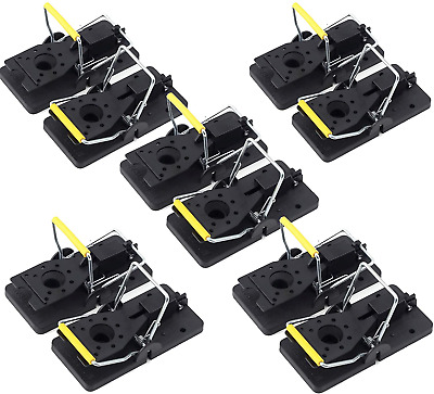 Huttoly Mouse Trap, Professional Rat Trap, Set of 10, Effective Mouse Trap, Easy