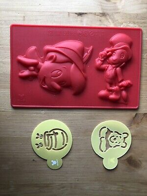 Disney Cake And Sweets Pinocchio Silicon Mould & Winnie The Pooh Stencils