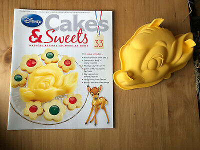 Disney Cake And Sweets Magazine Issue 33 With Large Bambi Head Silicon Mould