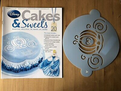 Disney Cake And Sweets Magazine Issue 20 With Cinderella Carriage Stencil