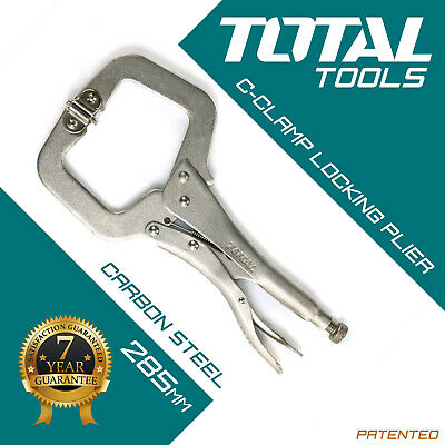 """1Pc 6//9/"""" Stanley Locking Pliers Wrench C Clamp Swivel Pads Mole Vise Grip New FI"""