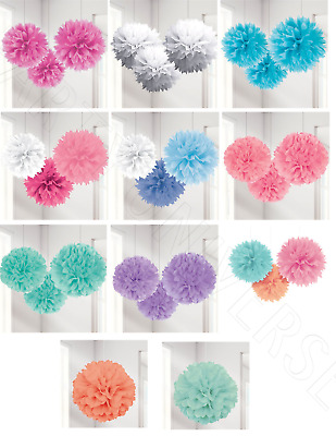Birthday Wedding Engagement Hen Party Hanging Ceiling Decorations Pom Poms Lot