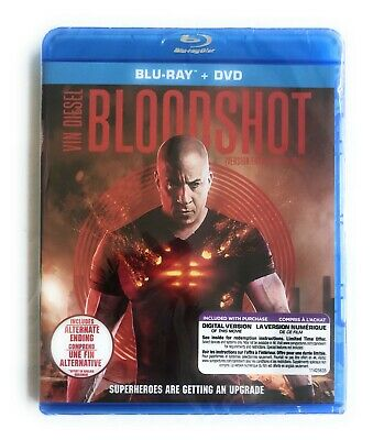 VIN DIESEL BLOODSHOT BLU-RAY + DVD + Digi REGION FREE NO SLIPCOVER 2020 SEALED