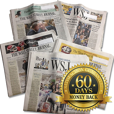 Wall Street Journal 1-YEAR All Access Print and Digital Edition WSJ Subscription