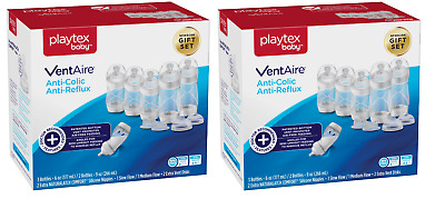 Playtex Baby VentAire Anti-Colic Anti-Reflux Baby Bottle Newborn Set (2 Pack)