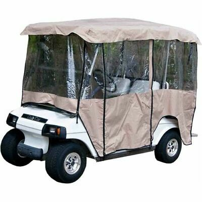 """Universal Tan 4 Passenger Vinyl Enclosure Cover For Golf Carts with 80"""" top"""