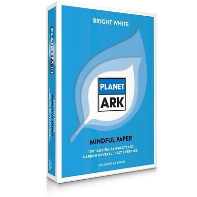 PLANET ARK COPY PAPER 100 % Recycled A4 80gsm Ream 500 Carton of 5