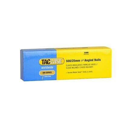 """Tacwise 500/25mm 1"""" Angled Nails (Box of 5000)"""