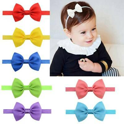 20x Toddler Baby Girls Big Bow Knot Headband Hairband Stretch Turban Head Wrap#