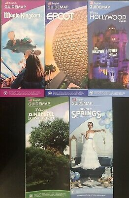 NEW 2020 Walt Disney World Theme Park Guide Maps - 5 Current Maps Free Shipping!