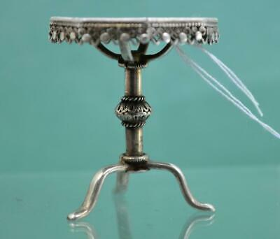 Antique Chinese Export Silver Pedestal Miniature table 4.5 cm Hung Chong Co